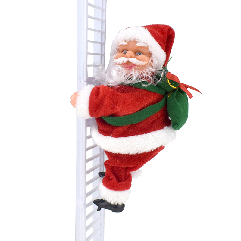 Xmas Electric Santa Claus Dancing Bell Lamp Doll Toys Children Gift Xmas Decor Environmental Protection And Durability