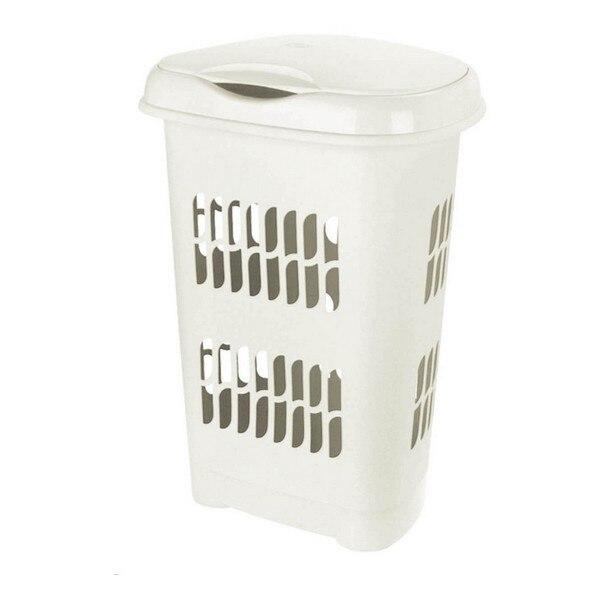 Çamaşır sepeti Tontarelli 50 L plastik krem (46X34x64 cm)