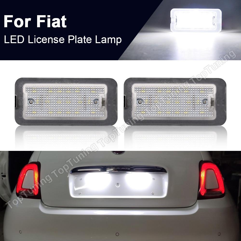 2PCS Fehler Free LED Lizenz Nummer Platte Licht Für Fiat 500 / C Abarth 2007-2020 Canbus Targa 51800482