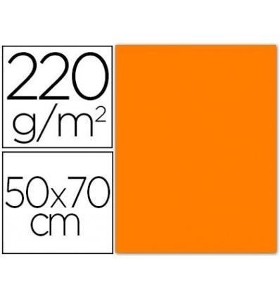 CARDBOARD SMOOTH/ROUGH 2 TEXTURES 50X70 CM 220G/M2 ORANGE 20 Pcs