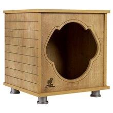 Woof Dog House 4A small kennel log cabin indoor dog bed dog feed funiture wood log cabin hammock indoor design exclusive
