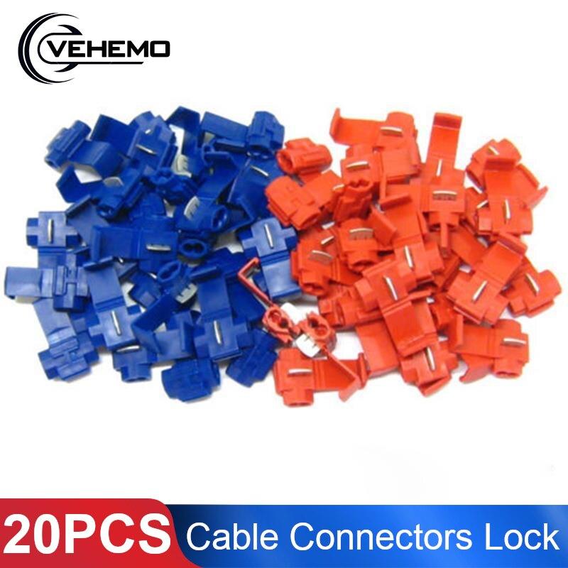 10x Red Electrical Cable Connectors Quick Splice Lock Wire Terminals Crimp CA