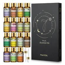 Чистые эфирные масла, 15 шт., подарочный набор, натуральные растительные ароматические эфирные масла, диффузор, масло эвкалипта, ванили, мяты,...