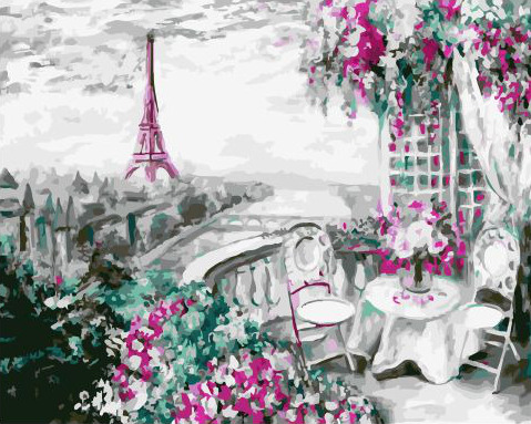 Painting By Numbers GX 32751 Paris Balcony 40*50