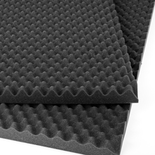 AcousPanel 12 acoustic foam sheets. Sound absorbent acoustic panels with Alveolar.60x60x2 cm design.