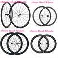 Велосипед-обода-наборы обода колеса Clincher Carbon Road 45 мм 700C 50 мм полный 38 мм 25mm-width-u-shaped-велосипед колесная