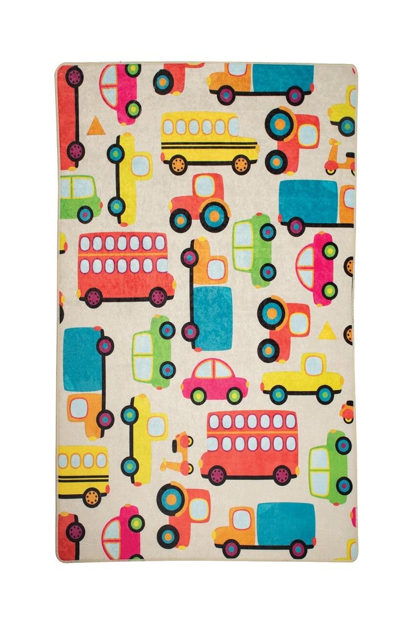 Colorful Trolley Cream Children Rug