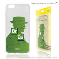 FunnyTech®Silicone Case for Xiaomi Redmi 7 L Series Breaking Bad silhouette Heisenberg transparent