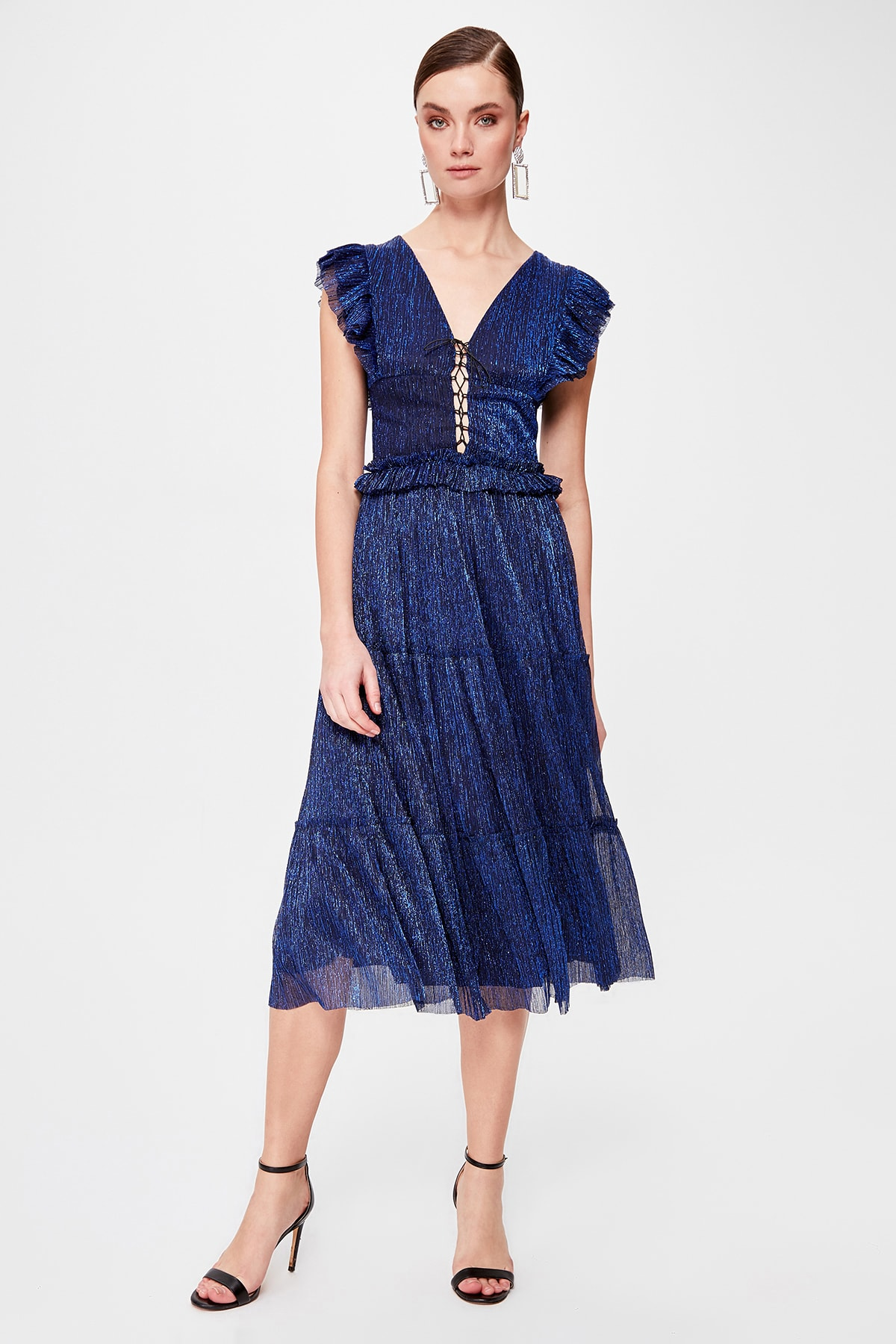 Trendyol Lacing Detail Dress TPRSS20EL0313