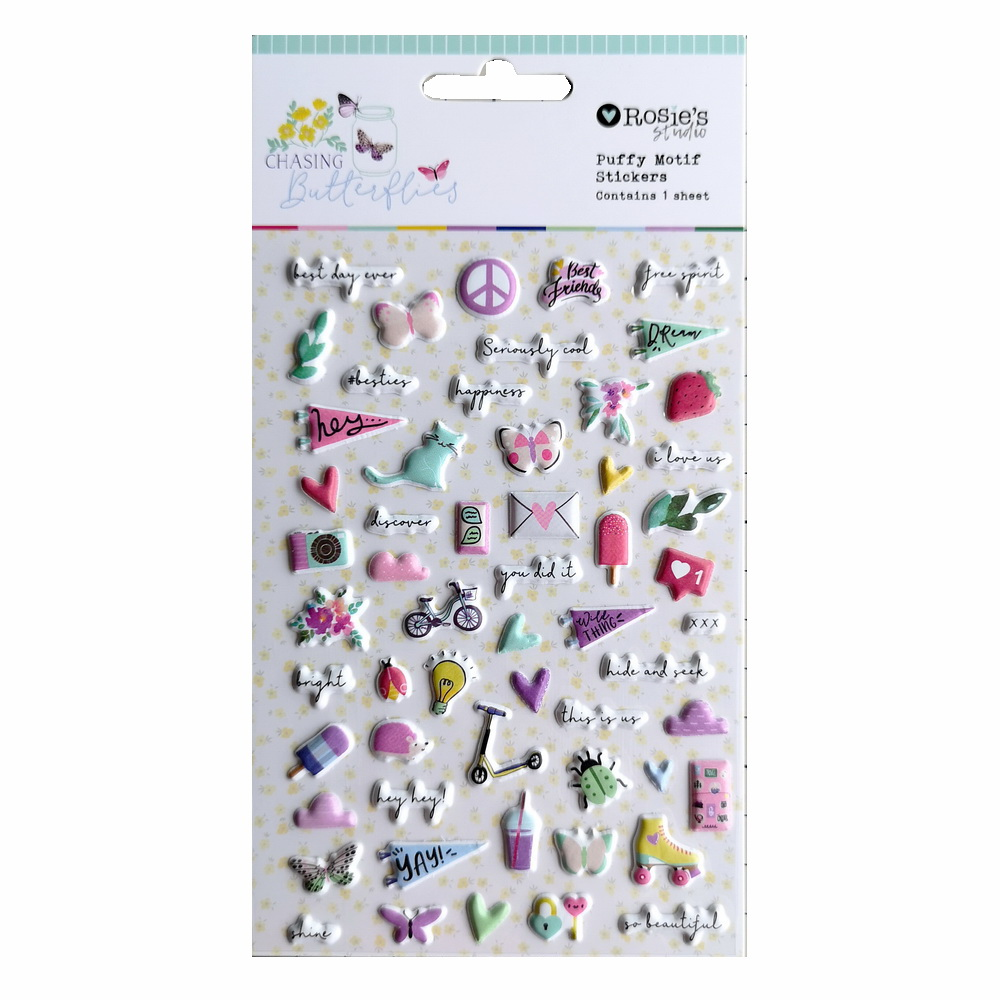 CRZCrafter Puffy Motif Stickers Self Adhesive For Scrapbooking Card Making Journal Embellishments Decoration