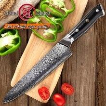 Профессиональный шеф повар GRANDSHARP 8 дюймов, 67 слоев, японский дамасский кухонный инструмент из нержавеющей стали, рукоятка G10