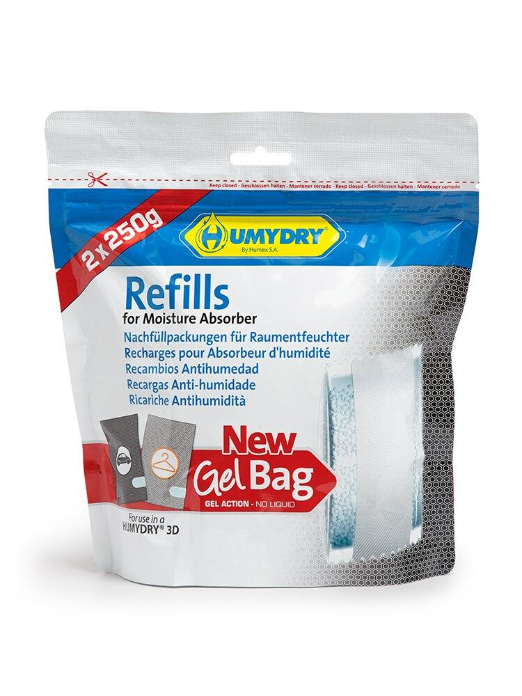 Recambios Antihumedad Gel Bag Para Deshumidificador 3D Armario De 250g. 2 Unidades.