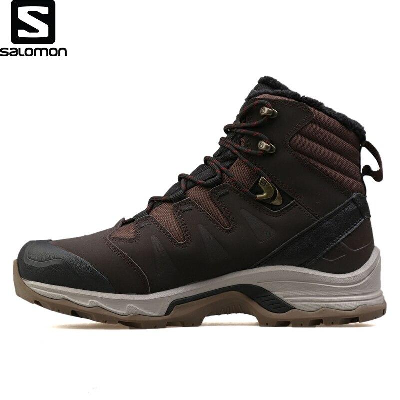 Original Salomon Marrón Para Hombre Zapatos Al Aire Libre Zapatos De L39972300 De Los Hombres De Invierno Impermeable Calzado Para Deportes Al Aire Libre Botas