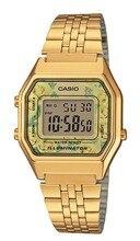 Оптическими зумом Casio ретро цифровые часы La680wega-9c старинное золото