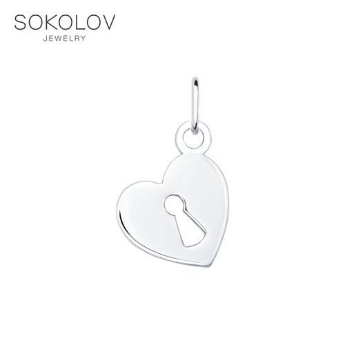 Pendant SOKOLOV Silver Fashion Jewelry Silver 925 Women's Male