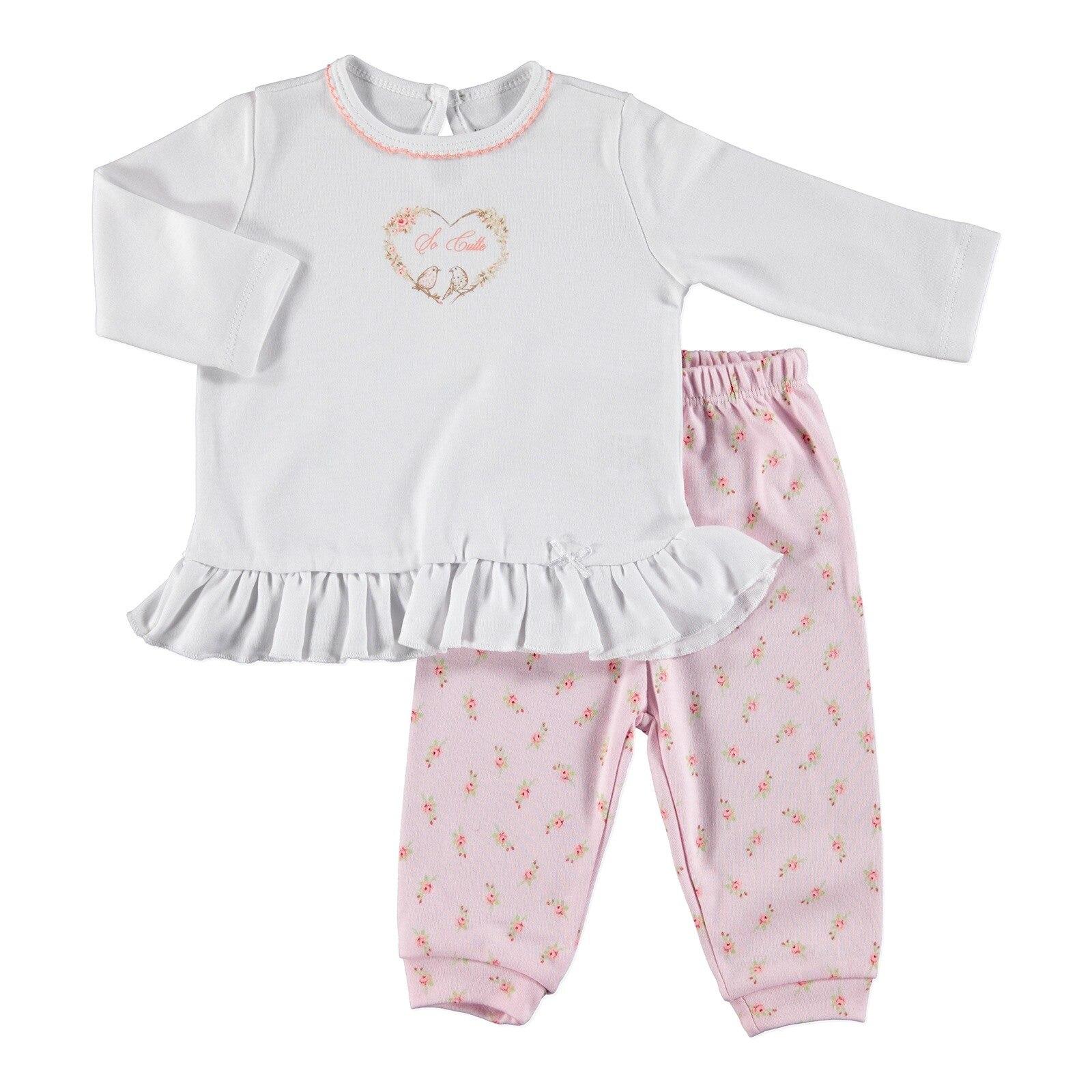 Ebebek HelloBaby Little Flowers Baby Pyjamas Set