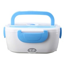 Ланч бокс с подогревом от сети контейнер для еды Car Electric Lunch Box(Голубой