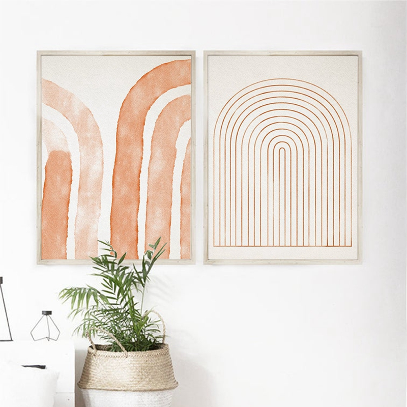 Abstract Painting Posters And Prints Modern Geometric Minimalist Gallery Wall Art Painting Pictures For Living Room Home Decor