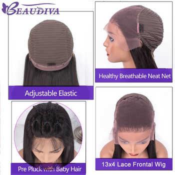 13*4 人毛かつら Beaudiva 毛レースフロント人毛かつら事前摘み取らかつらとかつらペルーストレートヘア