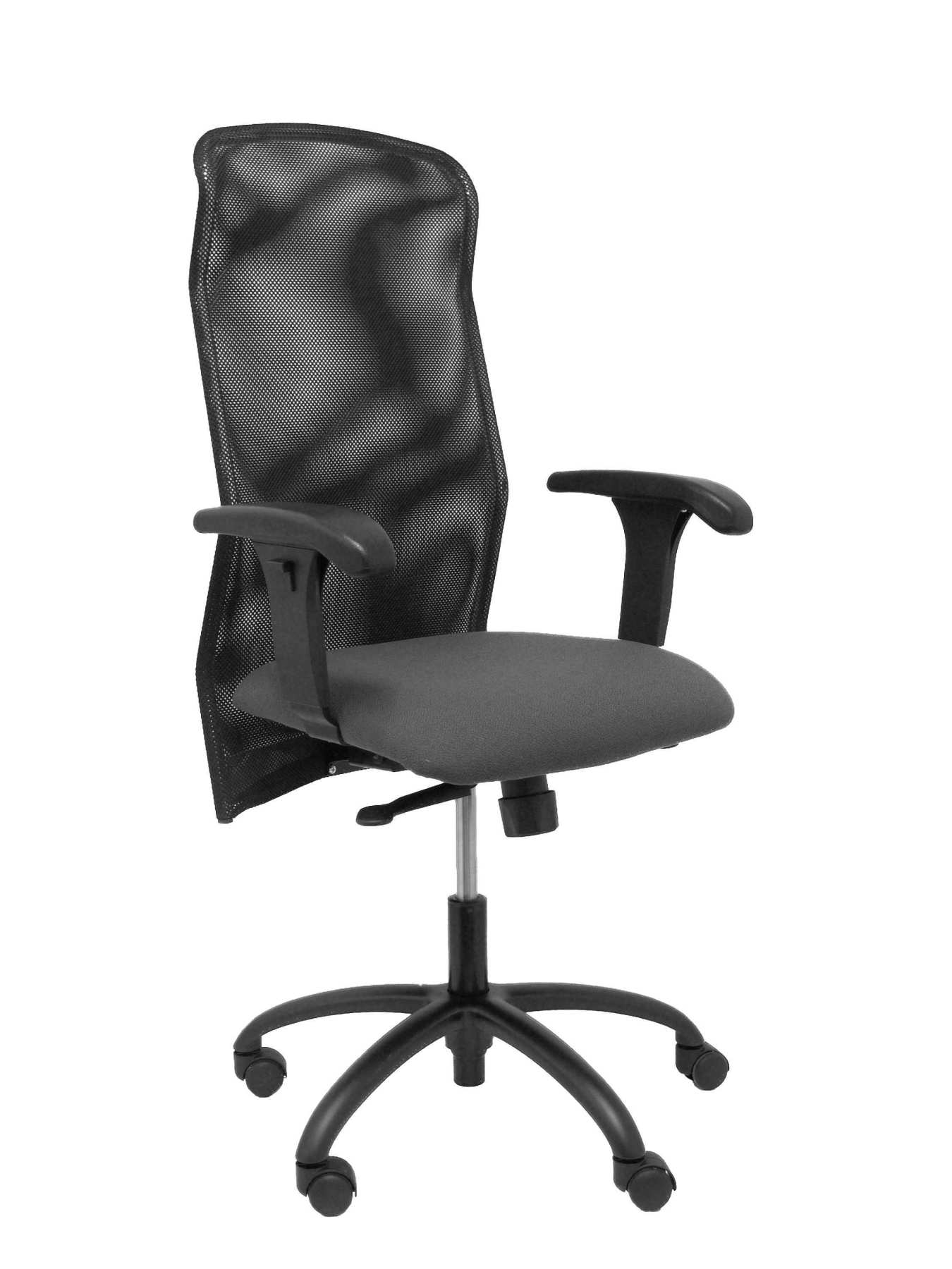 Ergonomic Office Chair With Mechanism Synchro, Arms Adjustable Polyurethane Injected-Backing Mesh Transpi