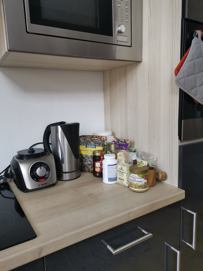 Two Shelves Simple Sustainable Bamboo Kitchen Organizer