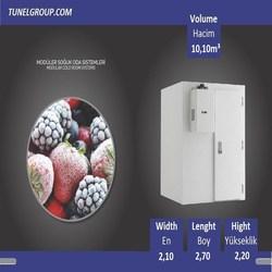Tunel Groep-Modulaire Koude Kamer (+ 5/-5 °C) 10.10m ³-Non-Planken