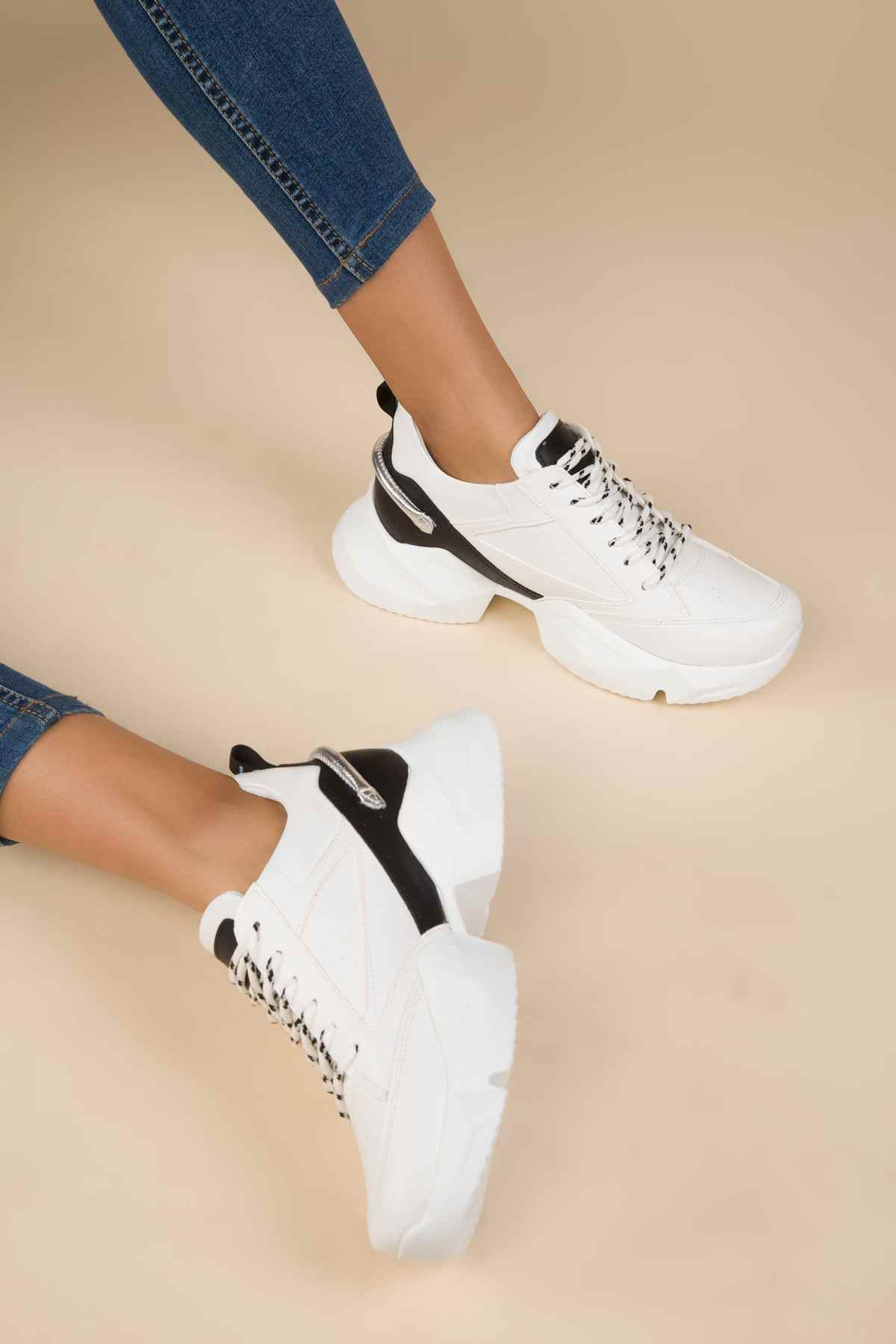 SOHO Frauen Mode Weiß Sneaker Damen Casual Lace-up Chubby Sport Schuhe Weibliche Bequeme Turnschuhe 13980