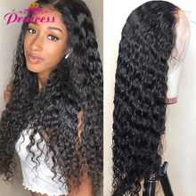 Wig Human-Hair-Wigs Lace Closure Lace-Front Deep-Wave Princess Pre-Plucked Brazilian