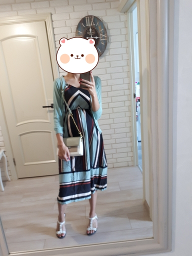 Women Summer Holiday Dress Striped Long Dresses Summer Beach Dress photo review