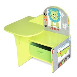 Desk child Wood Green Room children desk with seat and drawer