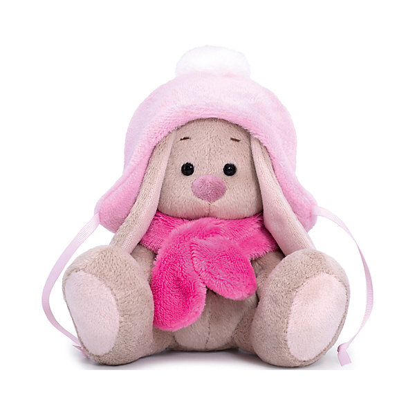 Soft Toy Budi Basa Bunny In A Hat With Pompon And Scarf,