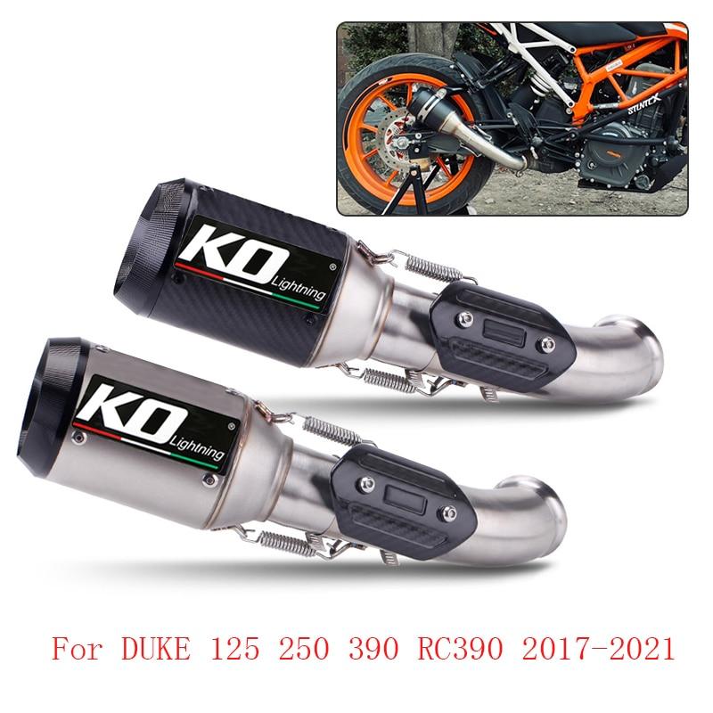 Deslizamiento en 51mm sistema de Escape conectar el tubo silenciador de Escape para KTM Duque 125, 250, 390, 2017-2021