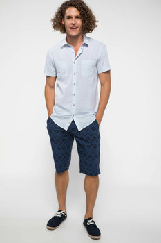 DeFacto Man Summer Casual Shorts Men Fashion Prints Short Male Navy Blue Bermuda Mid-waist Shorts-I8225AZ18SM 2