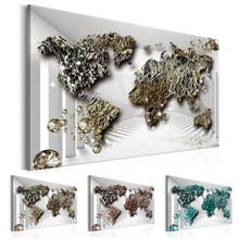 1pieza mapa do mundo pintura em casa minimalismo decoração do quarto modular para sala de estar