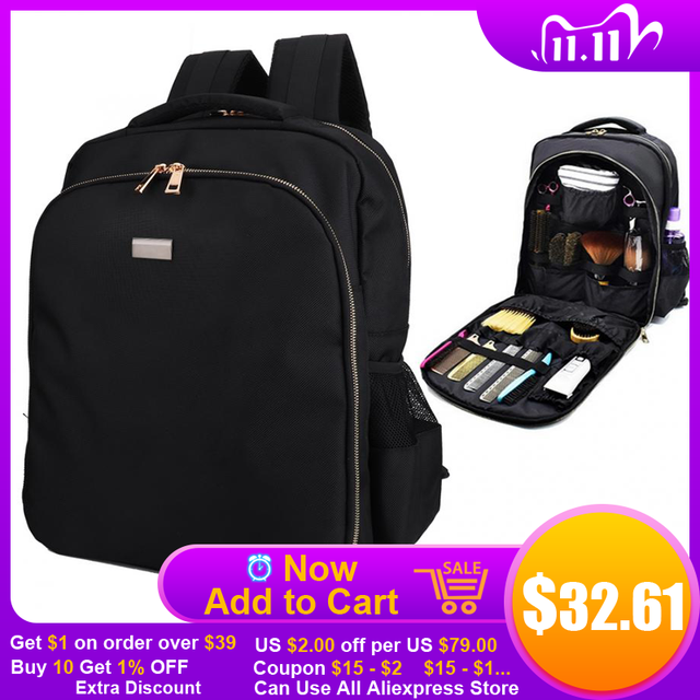 Barber Accessories Hairdressing Tool Large Capacity Storage Backpack Barber Styling Tools Outdoor Travel Shoulders Bag