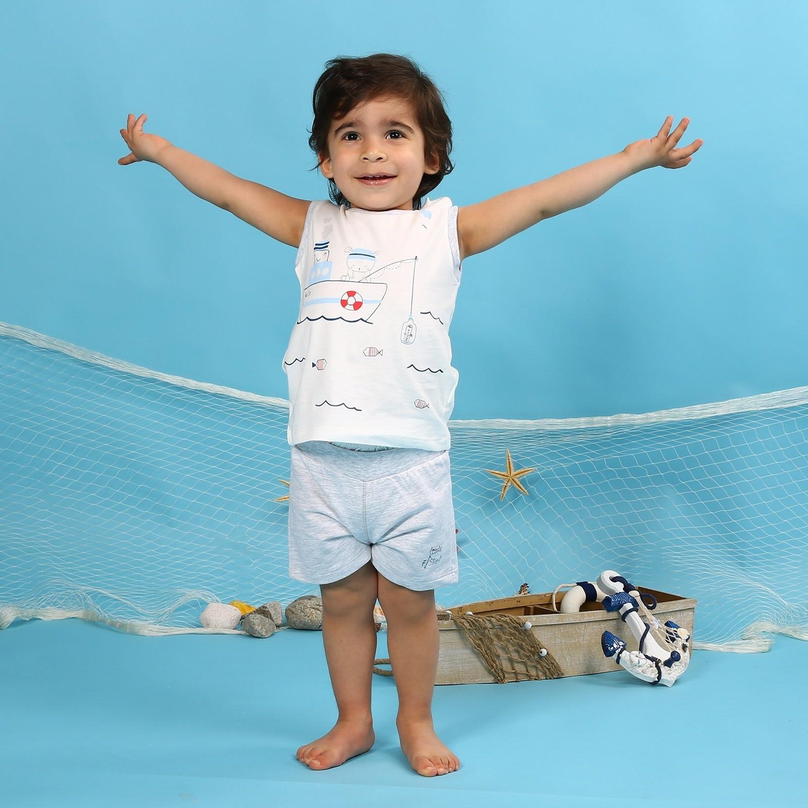 Ebebek HelloBaby Baby Boy Little Fisher Athlete Short Set