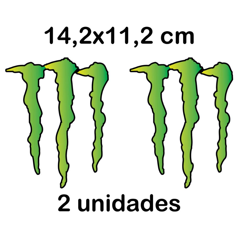2X PEGATINA MONSTER ENERGY VINILO STICKER DECAL AUTOCOLLANT GARRA