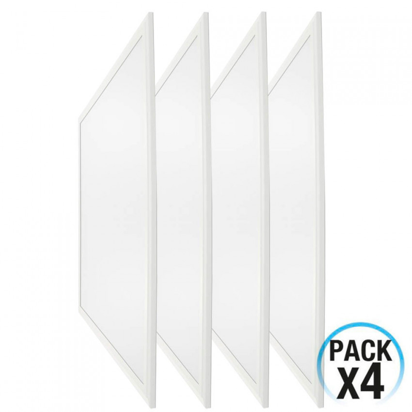Pack 4 LED Panels Ultraslim Square 36W 3200lm 600x600mm 4000K 7hSevenOn
