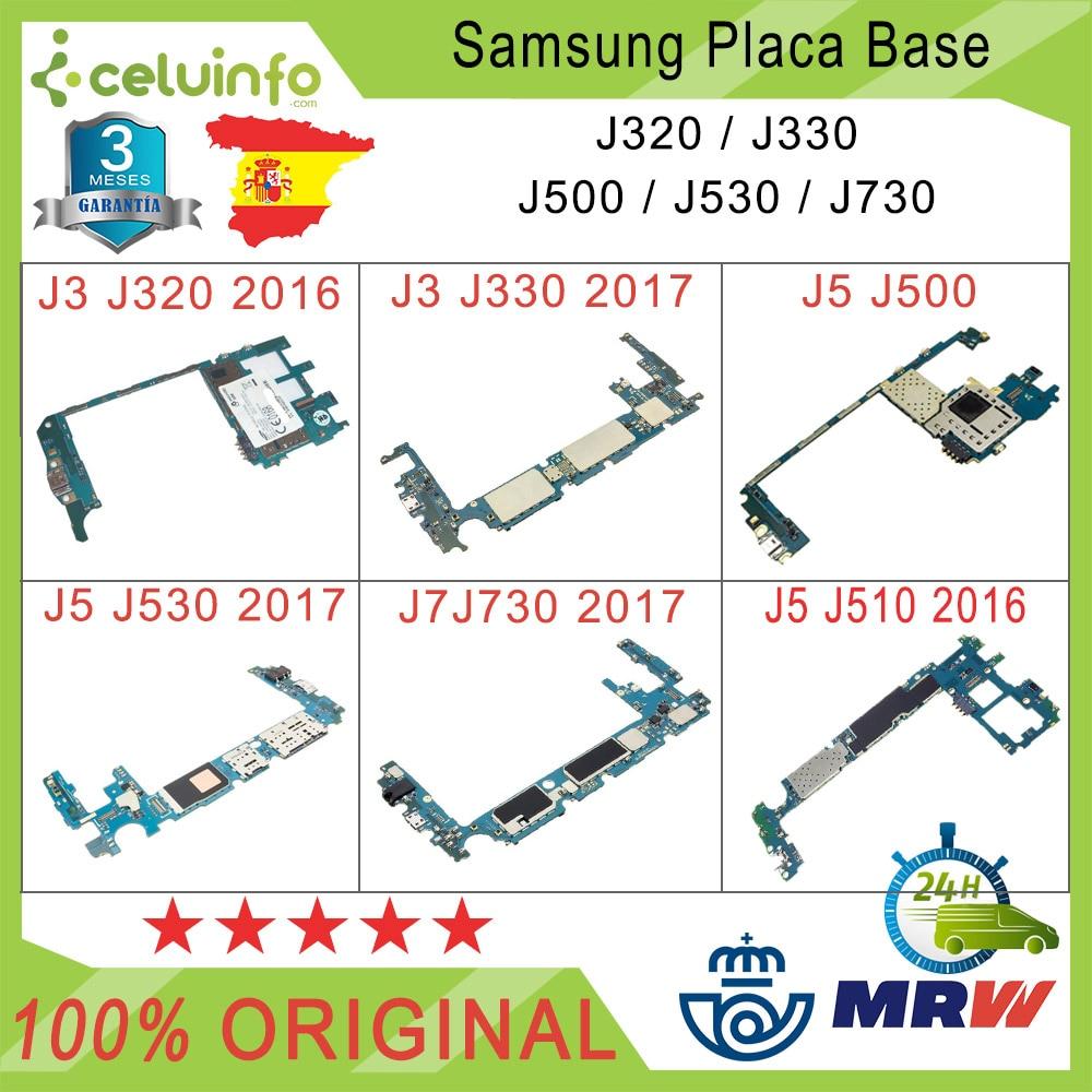 Original Motherboard Free Samsung Galaxy J3 J320 J3 J330 J5 J500 J510 J530 J7 J730 16G Recovered, Shipping From Spain