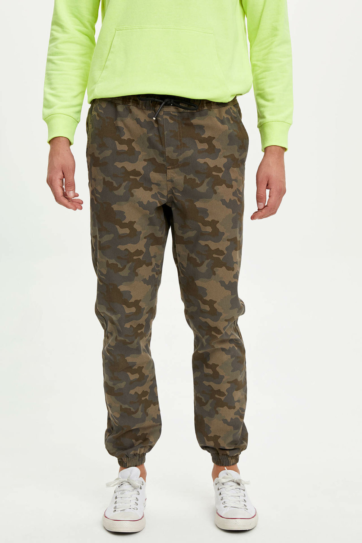 DeFacto Man Winter Army Green Camouflage Long Pants Men Casual Loose Bottoms Male Trousers-L7203AZ19WN