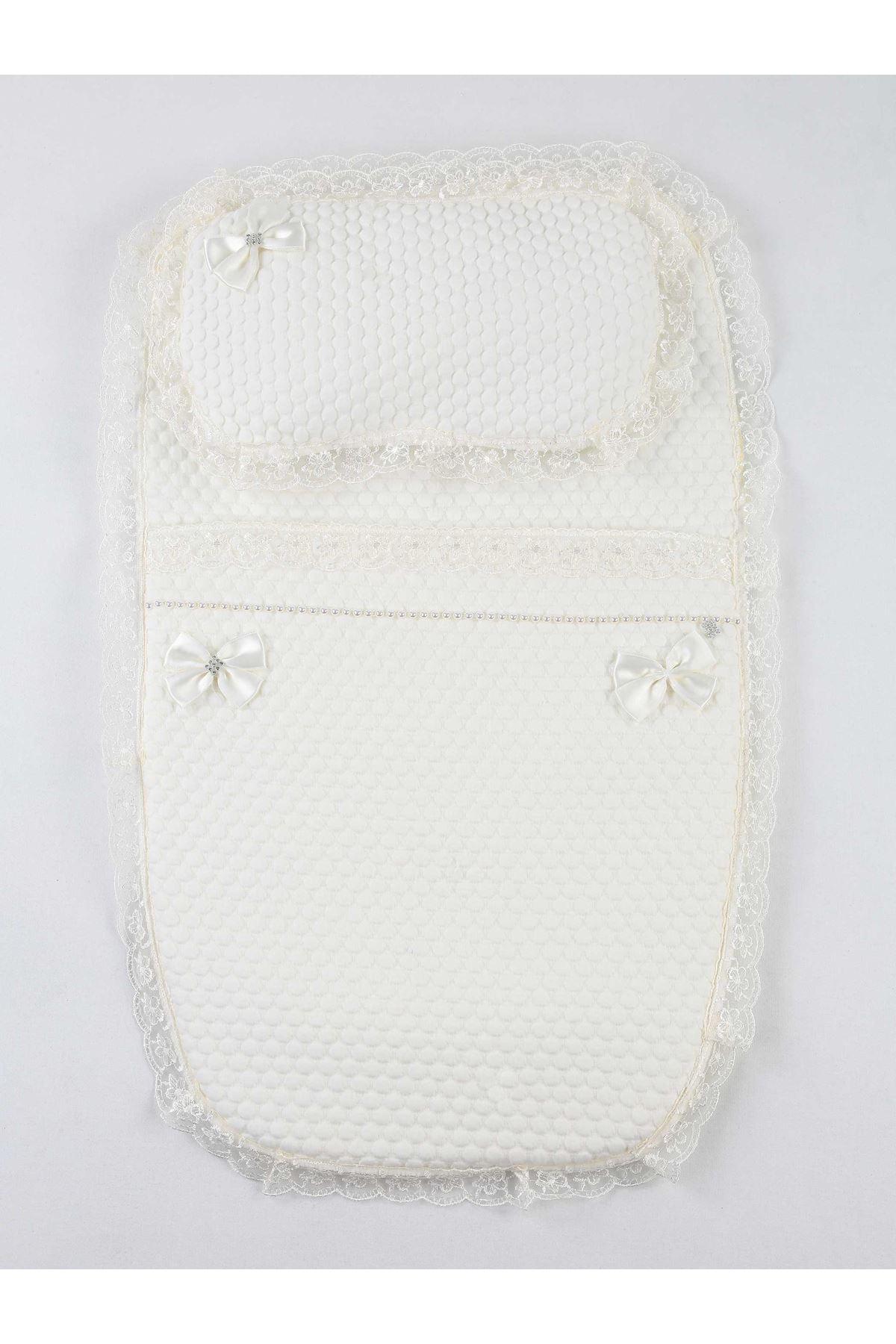 White Baby Swaddle Bottom Opening