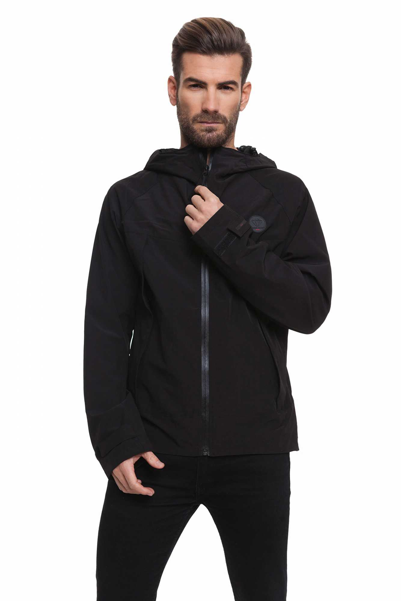 Born Rich Jacket For Men JACQUET With Hoodie And Black Color Zipper Length Causal BR2K111096AA2BRC