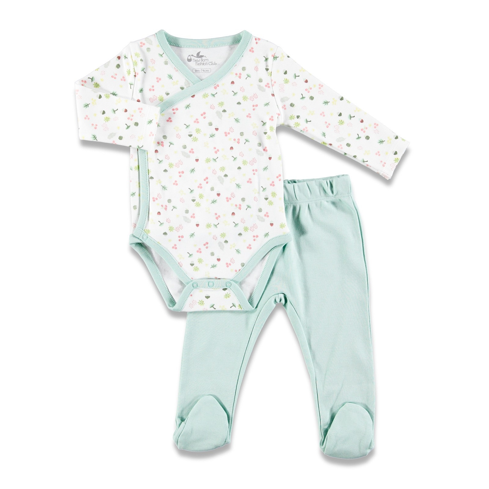 Ebebek Newborn Fashion Club Magical Forest Baby Bodysuits Footed Pants