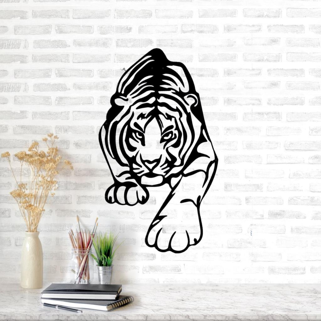 Provided Leopard Head Decorative Metal Wall Accessory Iron Sculpture Ornament Home Room Wall Hanging Decoration Art Skilful Manufacture
