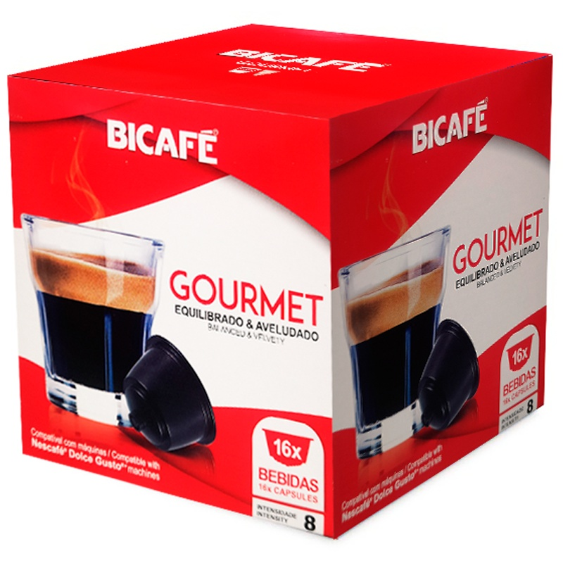 Gourmet Bicafé, 16 compatible capsules Dolce Gusto®