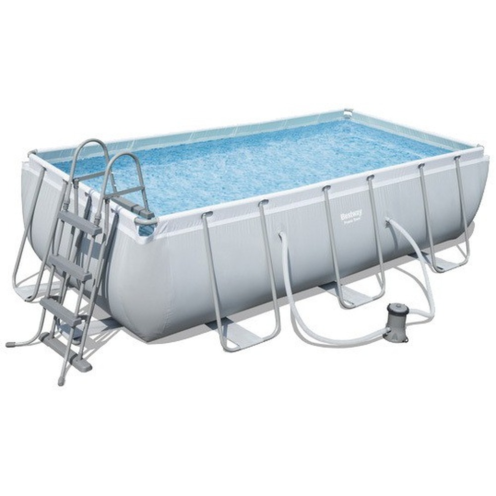 Scaffold Rectangular Pool 404 х201х100см, Filter Pump, Ladder, Bestway, Outdoor, For Summer, For Garden, Leisure, Item No. 56441