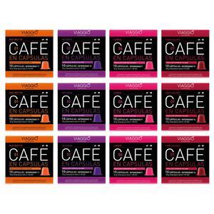VIAGGIO ESPRESSO - 120 coffee capsules compatible with Nespresso machines (intense MIX)