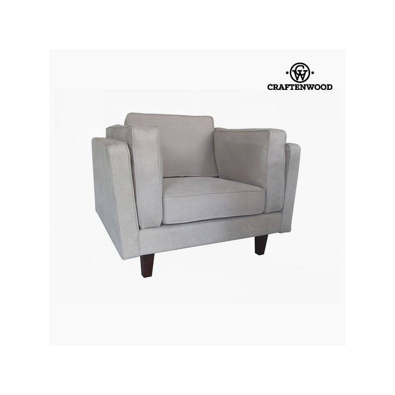 Armchair Leatherette Beige (104x92x80 Cm) By Craftenwood