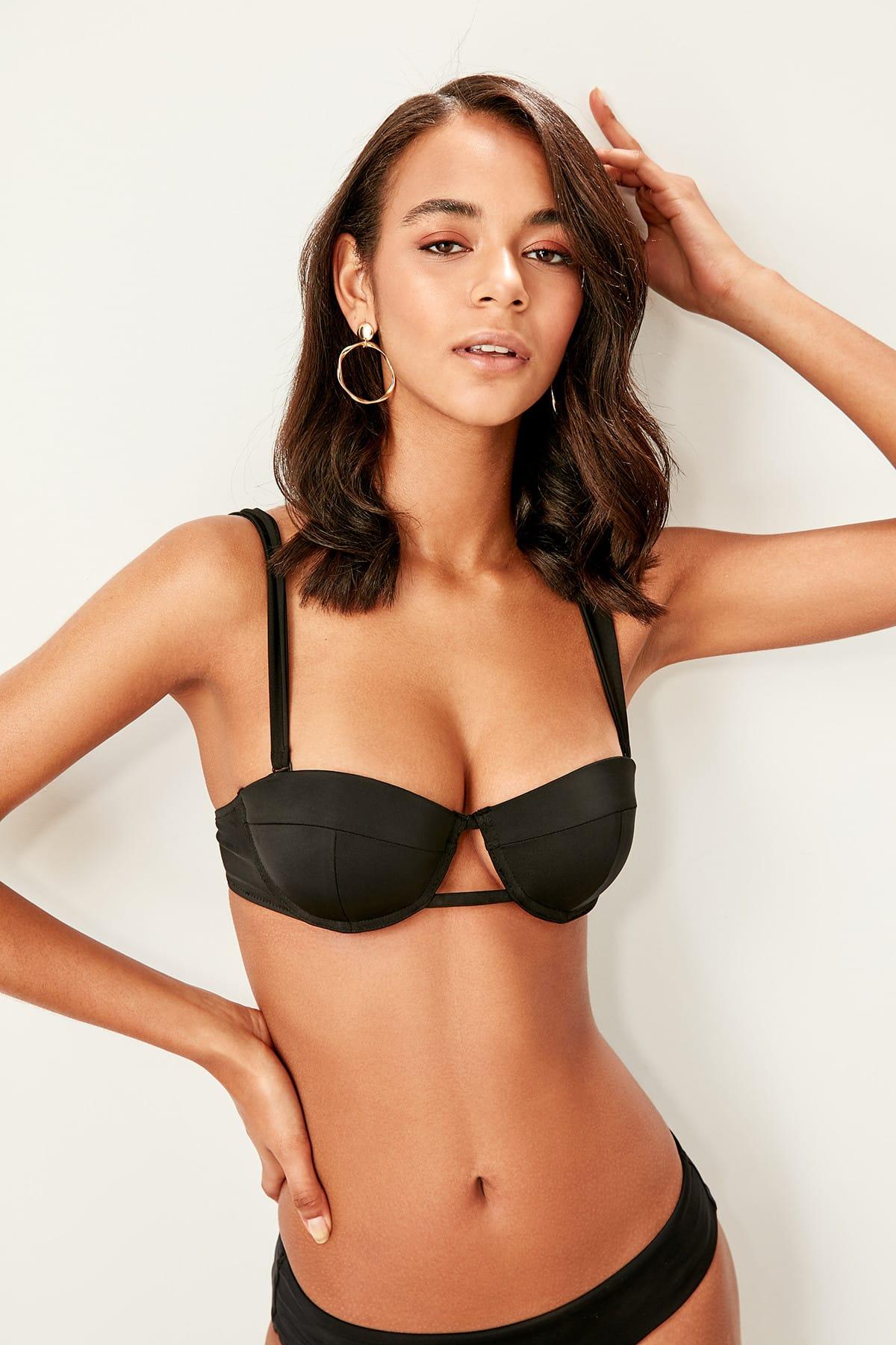 Trendyol Intermediate Piping Bikini Top TBESS19WV0022