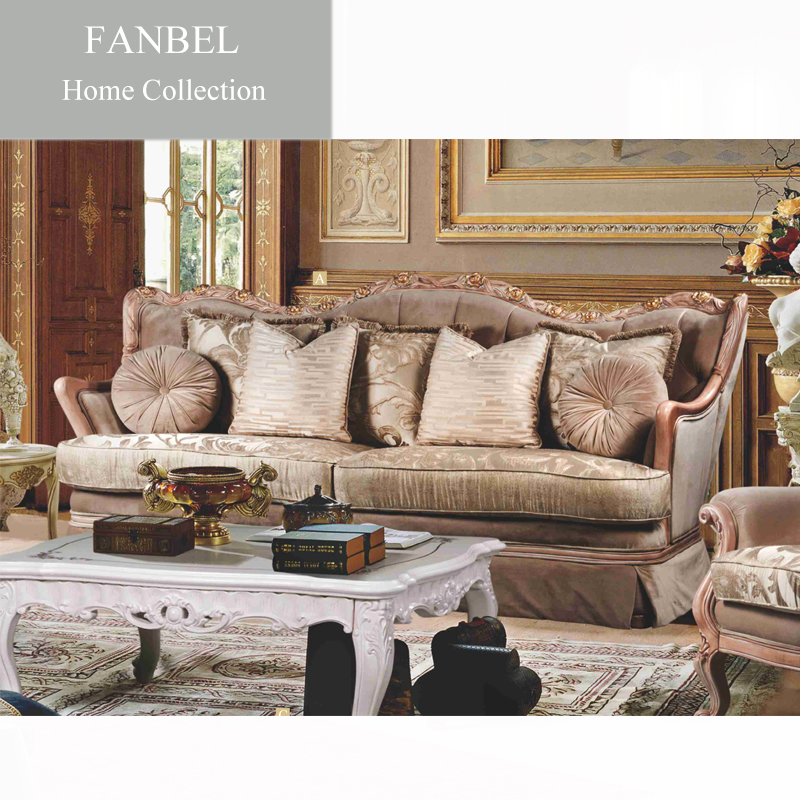 FANBEL furniture sofa living room set single chair wood frame classic image